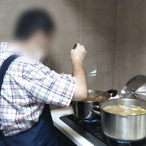 利用者様による調理・味付け